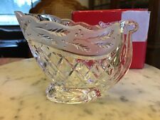 Gorham Sleigh Holiday Traditions Crystal Candy Dish Made In Germany