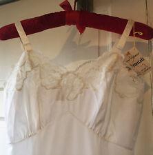 Vintage Slip Aristocraft White 32 Nylon Applique Lace NWT Unworn