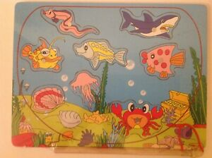 Magnetic Fishing Jigsaw Puzzle with Magnetic Rod End to pick up the Fish New