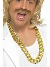 1970S 80S ADULT PIMP GANGSTER RAPPERS COSTUME BIG CHUNKY NECKLACE GOLD CHAIN
