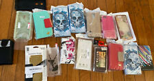 Lot Of Cell Phone Cases 17 Pieces Foldable Clip On Covers Variety All New