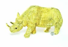 "Beautiful 18k Gold Rhino Brooch Ruby Eye Diamond Foot Heavy 1-3/4"" by 1"""