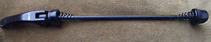 SLEEK BLACK ALLOY REAR QUICK RELEASE SKEWER WITH SPRINGS HANDY RARE SPARE ITEM