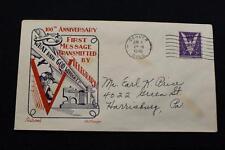 PATRIOTIC COVER 1945 MACHINE CANCEL 100TH ANNIV OF THE TELEGRAPH FLEETWOOD (2405