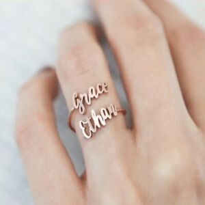 Silver Two Name Ring Personalized Two Name Ring Custom Name Ring Mothers Day
