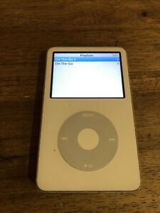 APPLE iPod CLASSIC 5th Gen Model A1136 30GB White No Reserve 99 Cent Starting