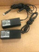 Joblot x2 Genuine Toshiba  PA3241U-1ACA AC Adapter charger 15v 3A used REF a190