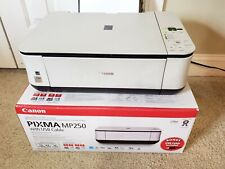 Canon Pixma MP250 Printer With Ink Power Cord Box Wont Feed Paper NEEDS REPAIR