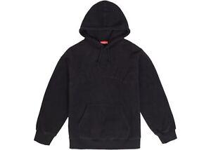 Supreme Polartec Hooded Sweatshirt Black Large FW18 DEADSTOCK