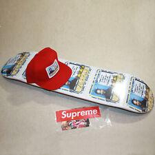 Supreme ODB Ol' Dirty Bastard Skateboard Deck & 5-Panel Red Hat Snapback In Hand