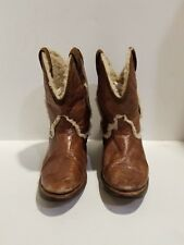 Dingo Womens Brown Leather Western Boots Size 9 M