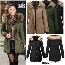 HOT  LADIES WOMENS JACKET HOODED WINTER TOP PARKER PARKA COAT SIZE S-2XL OUTWEAR