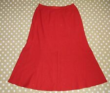 "❤❤ Jacques vert red lined skirt with 14"" front, back & side slits size UK 14 ❤❤x"