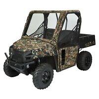 Outdoor ATV Enclosure Cab Cover Easy Zip All Weather Steel Quick Cabin Window