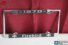 1970 Gm License Pontiac Firebird Front Rear License Plate Tag Holder Frame New(Fits: Pontiac)