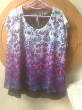 🌺 Size 16  M&Co  BNWT🏷 Purple/ Blue 👚 Blouse Top holiday/party🎁RRP £29