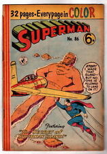 Australian SUPERMAN 86 DC Comics 1956 Full Color w Action Comics 224 cover UK