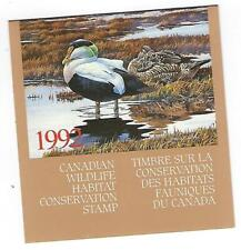 Canada Wildlife Habitat Conservation  (Northern Water) 1992 complete booklet.