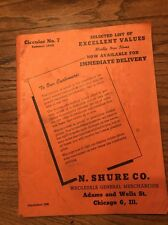 Vintage 1946 Summer Shure Co. Wholesale General Merchandise Catalog novelties