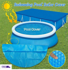 NEW Solar Cover for Pools Diameter Easy Set And Frame Pool Swimming Debris Blue