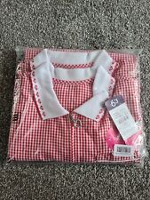 GIRLS PACK OF 2 NEW RED GINGHAM SUMMER SCHOOL UNIFORM DRESSES AGES 12-13  bnwt