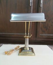Vintage Adjustable Piano Lamp - brass and stainless steel finishes