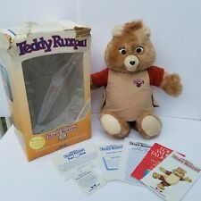 1985 ALCHEMY II WORLD OF WONDER TEDDY RUXPIN WITH ORIGINAL BOX Instructions