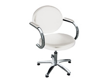 Medical/Salon/Hairdressing/Tattoo Chair w Arm rest, gas lift- white-AUS Seller
