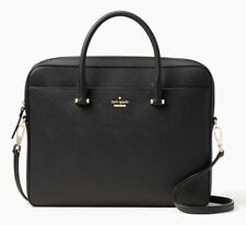 NWT Kate Spade Off The Grid Black Saffiano Leather Charging Laptop Bag Purse
