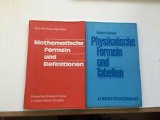 Physik Mathematik Formelsammlung Schulbuchverlag