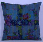 Indian Cotton Patch Kantha Cushion Cover Pillow Cases Decorative Throw Decor 16""