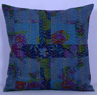 """Indian Cotton Patch Kantha Cushion Cover Pillow Cases Decorative Throw Decor 16"""""""