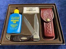 """CASE VINTAGE """"268"""" FOLDING HUNTER KNIFE SET, #6265 SAB SS"""