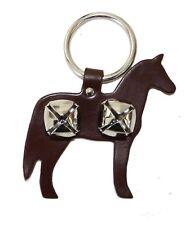 Auburn Leather - Pet Bell Hanger - Horse - Brown