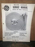 General Electric Record Changer -Service Manual- Schematics, Parts List.RD101
