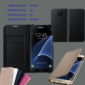 ULTRA SLIM LEATHER WALLET CASE COVER CARD SLOT PREMIUM FOR SAMSUNG GALAXY PHONES
