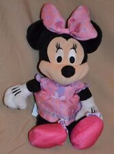"9"" Minnie Plush Doll Mickey Mouse Character Stuffed Toys Disney Pink Dress Bow"