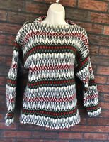 Vtg 60s Iceland Wool Sweater Jersey Modeller Medium 100% Lambs Wool Sweden Made