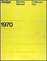 DODGE 1970 CHALLENGER DART SHOP MANUAL SERVICE REPAIR BOOK HAYNES CHILTON