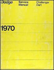 SHOP MANUAL DODGE SERVICE REPAIR CHALLENGER DART 1970 BOOK HAYNES CHILTON