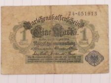 Germany banknote, note, Old money, 1 Mark, 1914, Blue Seal