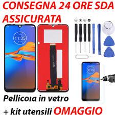 DISPLAY LCD MOTOROLA MOTO E6 PLUS XT2025 XT2052 TOUCH SCREEN VETRO SCHERMO NERO