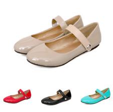 Many Jane Lolita Womens Round Toe Flats Pump Shoes Patent Leather Dress Sweet Sz