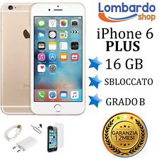 APPLE IPHONE 6 PLUS 16GB GRADO B GOLD ORO RIGENERATO RICONDIZIONATO USATO