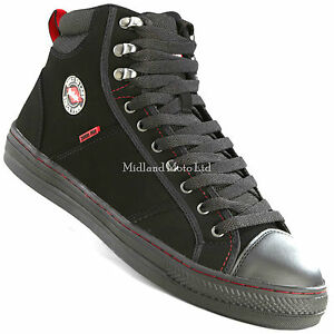 Lee Cooper Safety Steel Toe Cap Baseball Style Safety Boots Trainers Shoes LC022