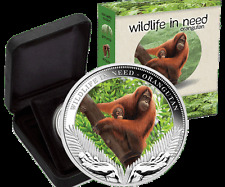 2011 $1 Wildlife in Need Series – Orangutan 1oz Silver Proof Coin