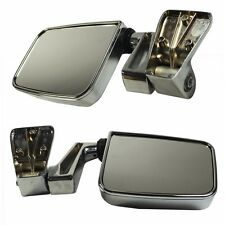 Chrome Manual Side View Door Mirrors Left Right Pair Set for 87-02 Jeep Wrangler