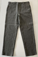 Woolrich Mens Gray Heavyweight 85% Wool Hunting Pants Made USA Size 36 X 34