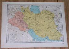 1944 ORIGINAL VINTAGE MAP OF IRAN IRAQ KUWAIT / VERSO BRITISH INDIA