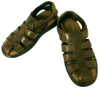 Woodlands Mens Brown Fisherman Sandal Size 12 Leather Comfort Casual Outdoor